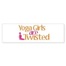 Yoga Girls Are Twisted Bumper Sticker