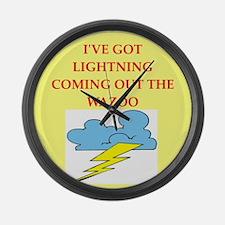 lightning Large Wall Clock