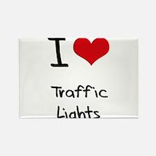 I love Traffic Lights Rectangle Magnet