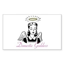Domestic Goddess Rectangle Decal