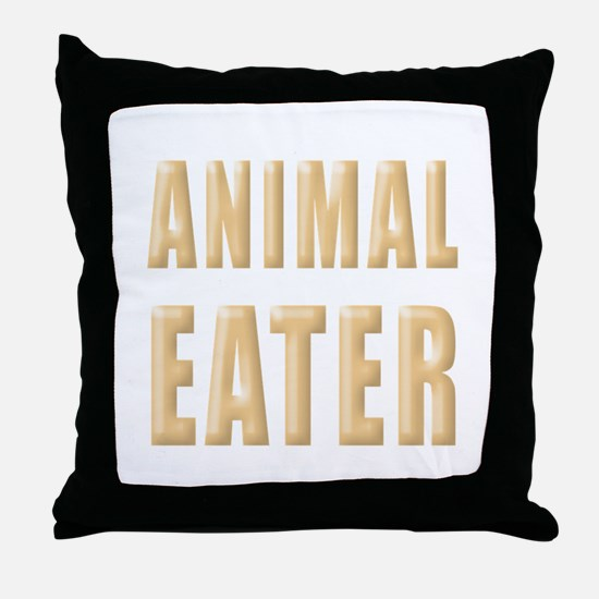 Animal Eater Throw Pillow