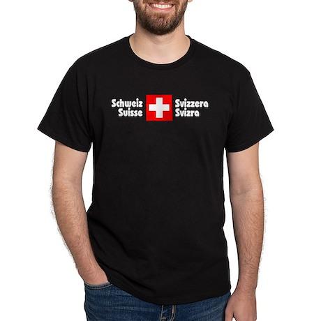 National Flag Black T-Shirt