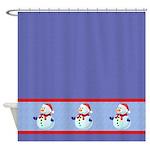 Festive Snowman Shower Curtain