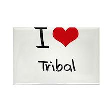 I love Tribal Rectangle Magnet