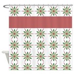 Elegant Snowflake Pattern Shower Curtain