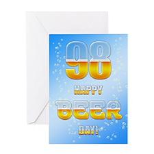 98th birthday beer Greeting Card