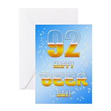 92nd birthday beer Greeting Card