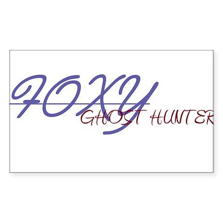 Foxy ghost hunter Sticker