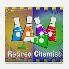 Retired chemist blanket 7 Tile Coaster