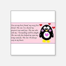 "Frienship Penguin Square Sticker 3"" x 3"""