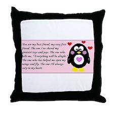 Frienship Penguin Throw Pillow