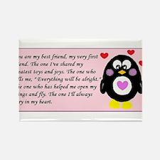 Frienship Penguin Rectangle Magnet
