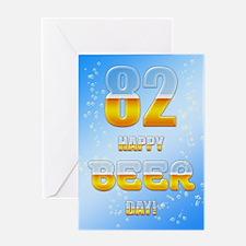 82nd birthday beer Greeting Card