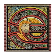 Kells Blonde Man Ceramic Tile