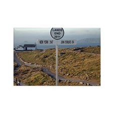 Lands End, Cornwall, England, UK 2 Rectangle Magne