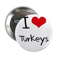 "I love Turkeys 2.25"" Button"