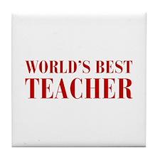 worlds-best-teacher-bod-brown Tile Coaster