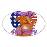Humpy July 4th Sticker