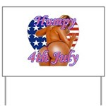 Humpy July 4th Yard Sign