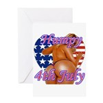 Humpy July 4th Greeting Card