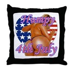 Humpy July 4th Throw Pillow