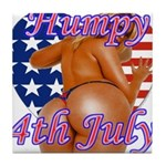 Humpy July 4th Tile Coaster