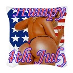 Humpy July 4th Woven Throw Pillow