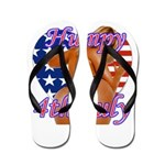 Humpy July 4th Flip Flops