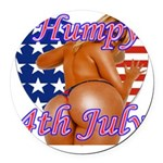 Humpy July 4th Round Car Magnet
