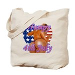 Humpy July 4th Tote Bag