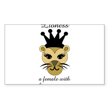Lioness: a female with fierce courage Sticker