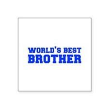Worlds best-brother-fresh-blue Sticker