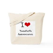 I love Twentieth Anniversaries Tote Bag