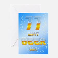 77th birthday beer Greeting Card