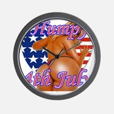 Humpy July 4th Wall Clock