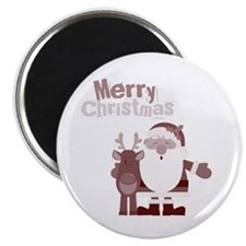 Santa with Reindeer Magnet
