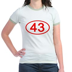 Number 43 Oval T