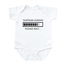 Tantrum Loading Please Wait Infant Bodysuit