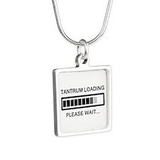 Tantrum Loading Please Wait Silver Square Necklace