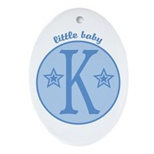 Baby K Oval Ornament