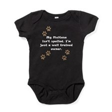 Well Trained Maltese Owner Baby Bodysuit