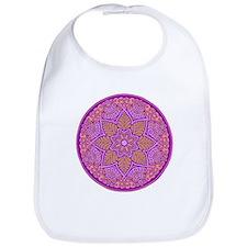 purple mandala Bib