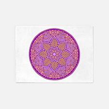 purple mandala 5'x7'Area Rug