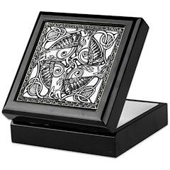 Celtic B/W Design Keepsake Box
