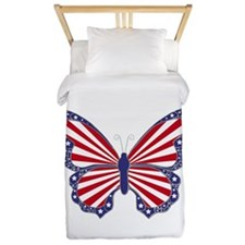 Patriotic Butterfly Twin Duvet