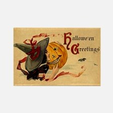 Vintage Witch Girl Rectangle Magnet