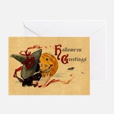 Vintage Witch Girl Greeting Card