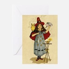 Vintage Girl Magician Greeting Cards (Pk of 10)
