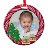 Baby 1st christmas Round Ornament