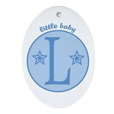 Baby L Oval Ornament